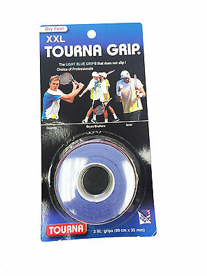 TOURNA OVER GRIP XXL 3 PACK - TOP SELLER tennis badminton squash racquet racket