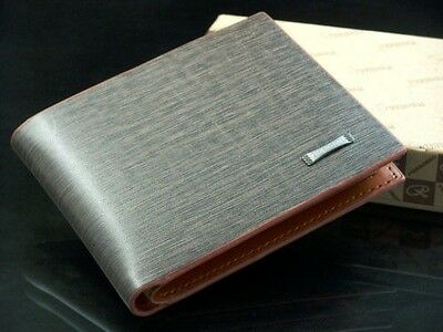 New Mens PU Leather Bifold Clutch Credit/ID Card Holder Wallet Coin Purse