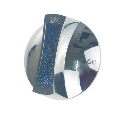 KN22 IMPERIAL 112553 SILVER BLUE CHROME GAS VALVE ON OFF KNOB 61mm 9x6mm SHAFT