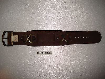 Brand NEW Vintage Medieval-type Big Brown Glove Leather 19mm Watch wristband