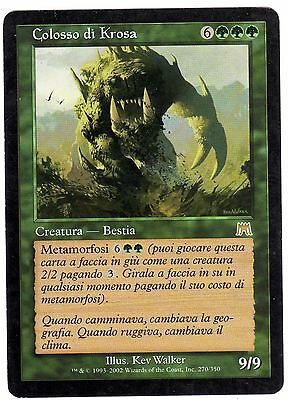 Colosso di Krosa - Krosan Colossus 1x carte Magic Assault (ITALIAN CARD) NM