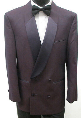 Purple Double Breasted Tuxedo Jacket Halloween Theater Costume Crooner Band 42S