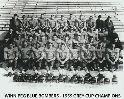 Winnipeg Blue Bombers - 1959 Grey Cup Champions, 8x10 B&W Team Photo