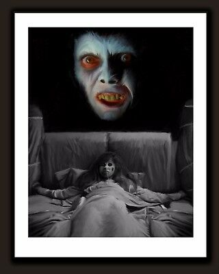 Signed The Exorcist Captain Howdy Demon Horror Movie Art Print - 1973 Pazuzu