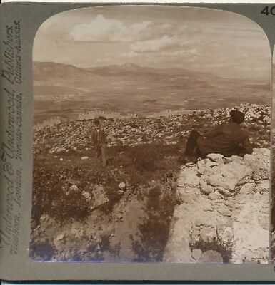 Isthmus of Corinth Old Pathway of Armies Greece Underwood Stereoview c1905