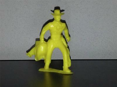 Tim-Mee Rodeo Cowboy Carrying Saddle. Yellow Plastic recast.