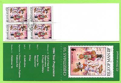 Isle of Man 1993 Christmas £2.30 booklet SB36 fine used