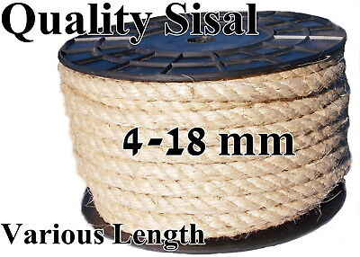 New Natural Sisal Rope Line Hemp Craft Twisted Braided Cord Cat Scratching Post
