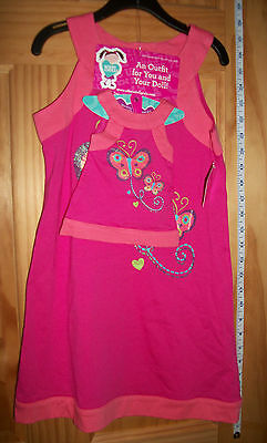 WHAT A DOLL Dress Set 6/6X Matching Girl Clothes Outfit HANGER Sparkle Butterfly