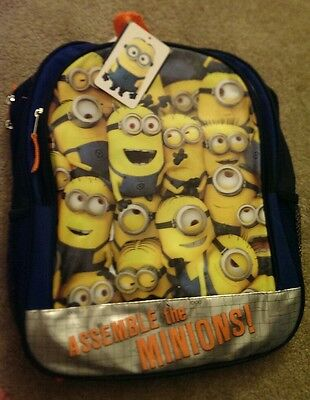 """Brand New Despicable Me 1 2 3 School Bag Backpack 16"""" Assemble the Minions"""