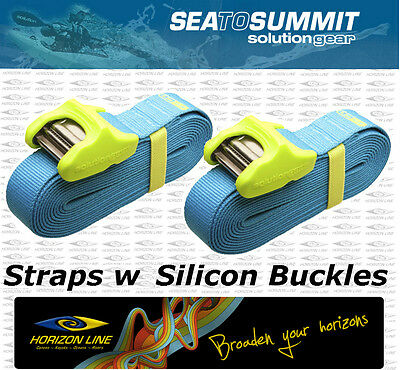 Silicon Coated Cam Tie Down Straps for Canoe, kayak or surf board on roof racks