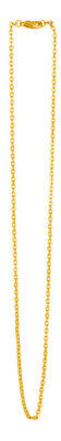 2.0 mm 24k Gold Plated Cable Chain Necklace 17.3 inch (44 cm)