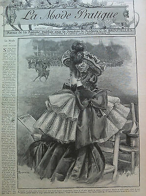 LAST ONE ! ORIGINAL MODE PRATIQUE  July 13, 1895 + French  SEWING PATTERN