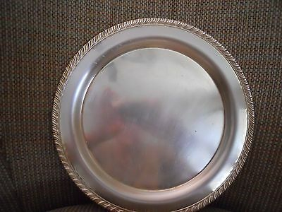 """2 Oneida Silver Plate 10"""" trays/scalloped edges"""