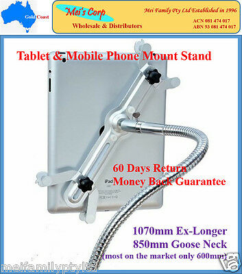 Desk Bed Mount Holder Stand 360 Rotating For iPad 1 2 3 4 Mini Samsung Tablet PC