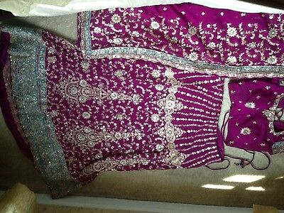 Purple lengha Indian
