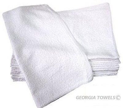 1 Dozen Cotton White Terry Cloth Restaurant Bar Mops Premium Kitchen Towels 28Oz
