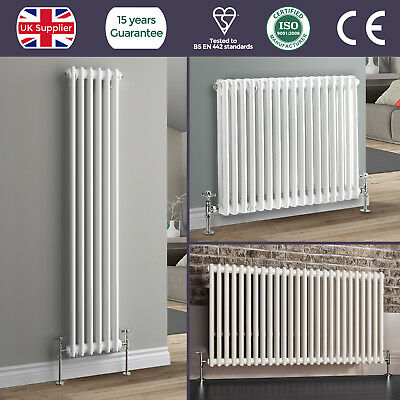 Traditional White Double Column Horizontal Or Vertical Colosseum Radiator Heater