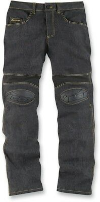 Icon Overlord Riding Street Pants Sportbike Stunt Riding Jeans 34 Blue