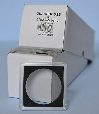 25 - 2x2 SILVER/COPPER ROUNDS 39MM Plastic Snaplock Coin Holders NEW