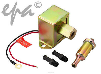 Universal 12V Electric Facet Style Fuel Pump 75Lph 2.5 - 4 Psi # Fpp06B
