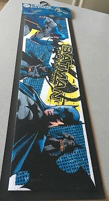 New Batman DC Comics Knight RUBBER MAT BAR RUNNER MAT Pool Room Bar Man Cave Bat