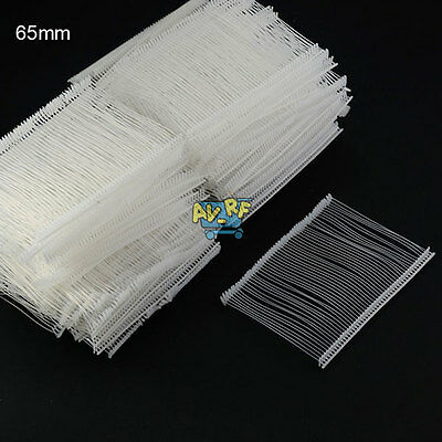 5000Pcs 65mm Barbs Fastener Pin for Standard Label Price Tagging Tag Gun Plastic