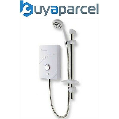 MX INSPIRATION QI 10.5kw Electric Shower White Chrome Multi Entry Replaces LXI
