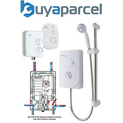 MX SOLO QI 8.5kw Electric Shower Neptune Solo Exotic Replace - Left Hand Entry