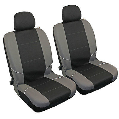 Sakura Neo Front Pair Car Seat Covers Black Grey Universal Suitable for Vauxhall