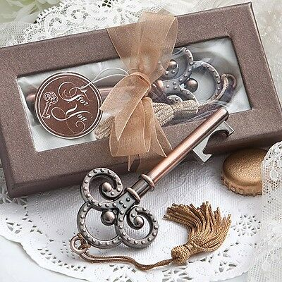 50 Vintage Skeleton Key Bottle Opener Wedding Favor Reception Gift Party Classic