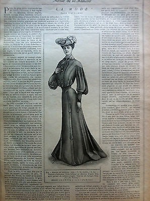 Last one ! ORIGINAL MODE PRATIQUE Sept 17,1904 + French PRECUT PATTERNS + sheet