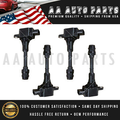 UF350 4PCS Ignition Coil for NISSAN ALTIMA 2.5L L4 UF350 224488-8H300 C1398
