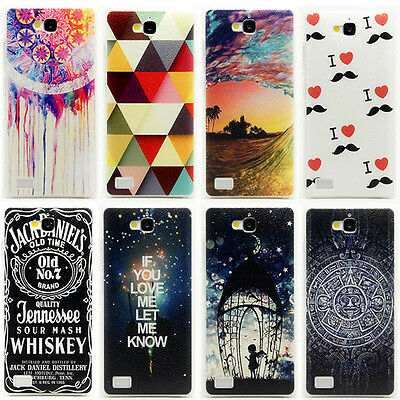 Hard PC Cute Pattern Skin Case Cover Back Fitted For Huawei Honor 3C