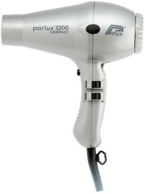 Parlux 3200 Hair Dryer for Drying & Styling. Powerful 1900 Watt SILVER