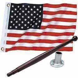 AMERICAN FLAG POLE KIT FOR YOUR BOAT *** Patriotic Symbolism ***