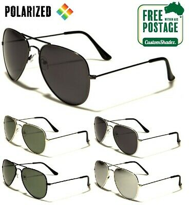 Air Force Aviator Style Sunglasses - POLARISED LENS - Excellent Quality