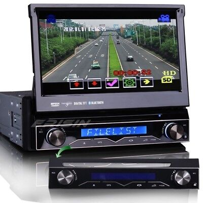 "7"" 1 Din Autoradio CD DVD player 3G GPS Navigation Bluetooth USB SD DVR 1088GI"