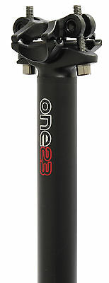 Brand New One23 Forged Alloy 400Mm Mtb Bike Seatpost. 27.2Mm. Black. Onse000