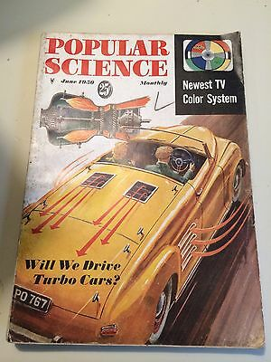 Vintage Popular Science Magazine/June 1950/Turbo Cars/M.G. Coil sprin/Ton of Ads