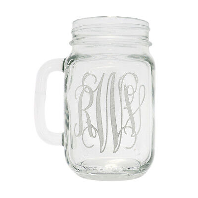 Wedding Party Glass Gift Etched Engraved Personalized Mason Jars Mug