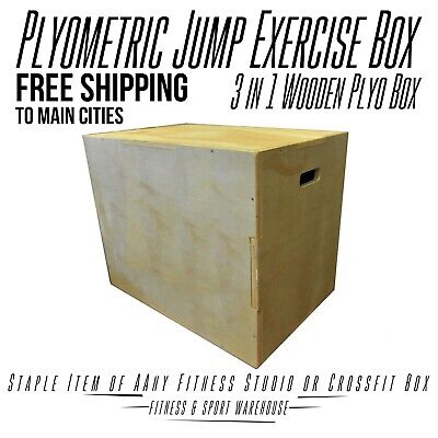 Wooden Plyo Box 3 in 1 Plyometric Jump Box For Crossfit Function Gym