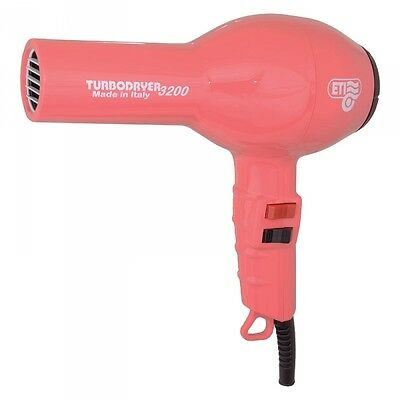 ETI Turbo Hair Dryer 3200 Professional. RASPBERRY. For Drying hair & Styling