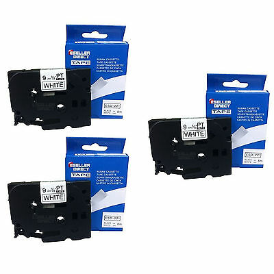 3 x BROTHER COMPATIBLE TZ221 LABEL TAPE FOR P-TOUCH PT1010R PT1010S PT1010NB