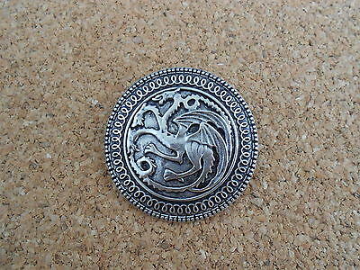 Game Of Thrones Shield Daenerys Targaryen Button Pin Spilla Badge Trono Di Spade