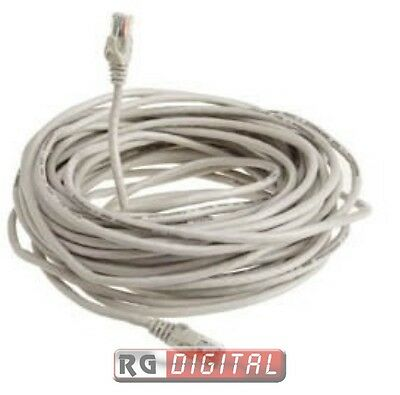 Cavo di Rete Cat.5 30 Metri 30MT Categoria 5 Internet Ethernet Lan Plug Rj45