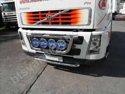 Volvo FH FM 2 / 3 Series Truck Stainless Steel Bumper Bar With LED Lights