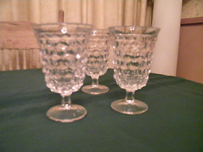 Vintage Fostroia Pedstal Water Classes set of 3 ,nice