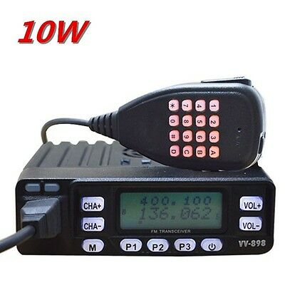 Mini VHF/UHF Dual Band Ham Transceiver Mobile FM Radio with programming cable