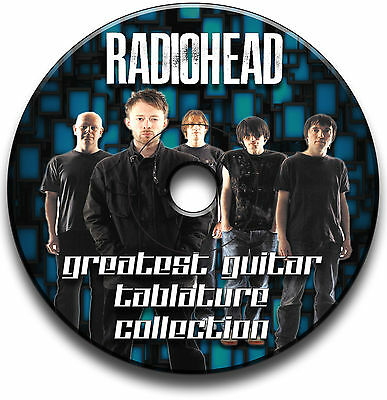 120 x RADIOHEAD ROCK GUITAR TABS TABLATURE SONG BOOK TUITION SOFTWARE CD